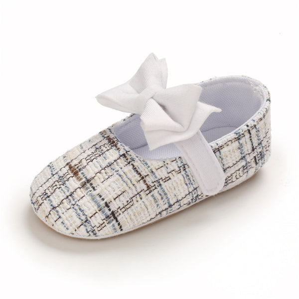 Baby Girls Magic Tape Bow Decor Shoes Wholesale Children'S Shoes Usa
