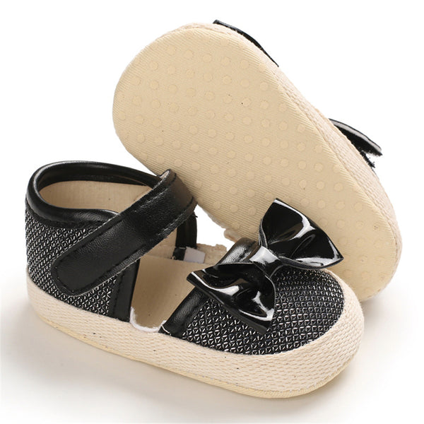 Girls Magic Tape Bow Decor Sandals Girls Shoes Wholesale