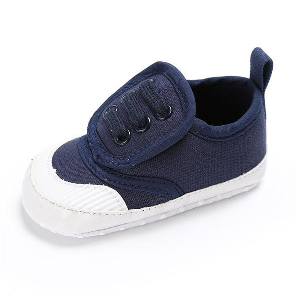 Baby Unisex Magic Tape Canvas Sneakers Wholesale