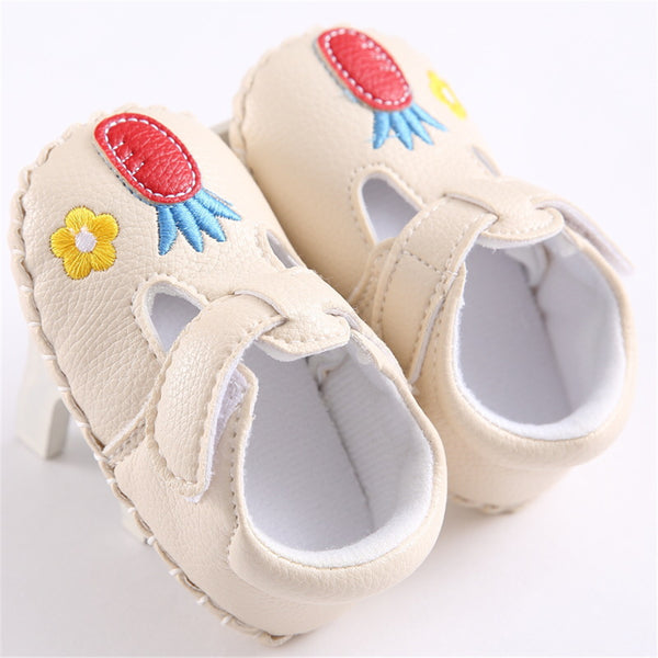 Baby Girls Magic Tape Cartoon Flats Wholesale Child Shoes