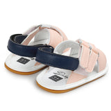 Baby Girls Magic Tape Open Toe PU Sandals Wholesale Kids Shoes
