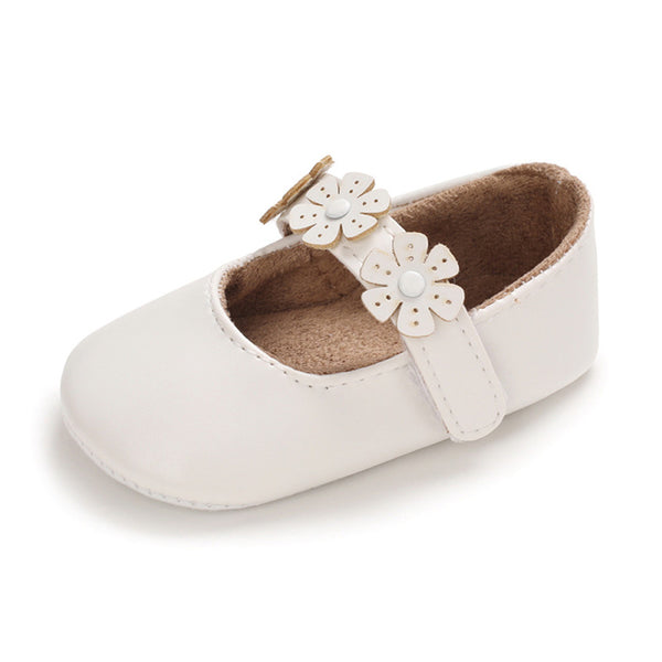 Baby Girls Magic Tape Solid Flats Wholesale Toddler Shoes