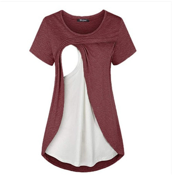 Maternity Short Sleeve Casual Nursing T-Shirts Whole Sale Maternity Clothes