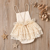 Baby Girls Mesh Sequin Sling Romper Baby Clothes Vendors