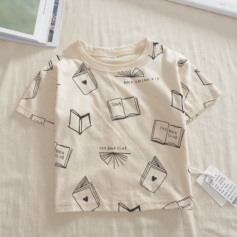Boys Summer Boys' Printed Short Sleeve T-Shirt Wholesale Boy Clothes