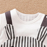 Baby Mouse Cartoon Striped Cute Romper
