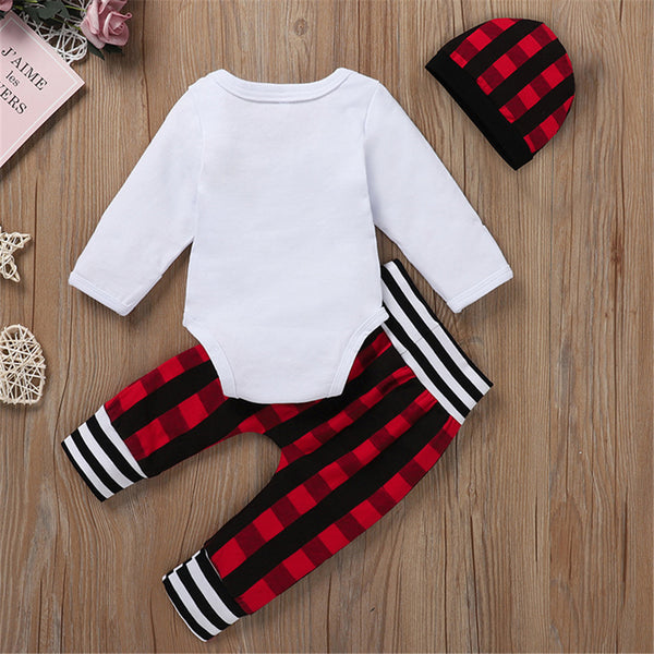 Baby Boy New To The Crew Romper Plaid Set Wholesale Baby Boutique Items