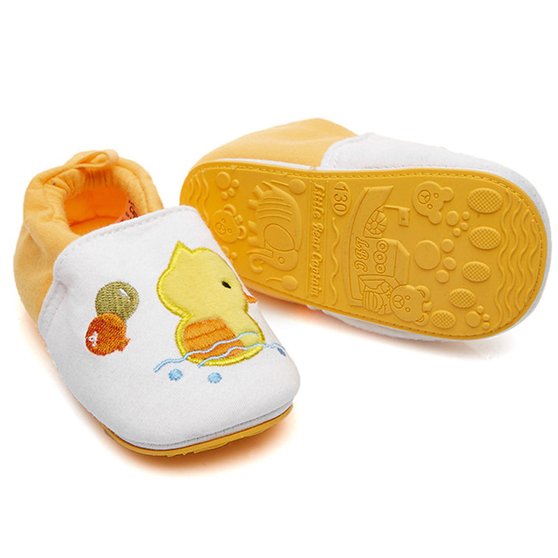 Baby Non-Slip Duckling Cartoon Printed Flats Shoes