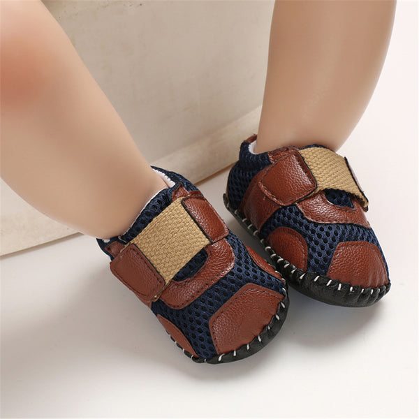 Baby Boys Non-slip Magic Tape Flat Toddler Shoes