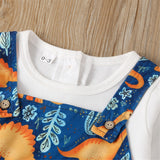 Baby Boys One Piece Dinosaur Printed Rompers