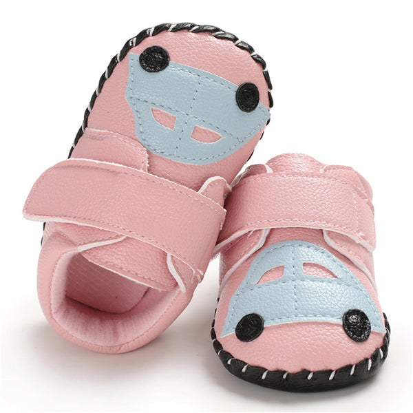 Baby Unisex PU Car Magic Tape Flats Toddler Shoes Wholesale
