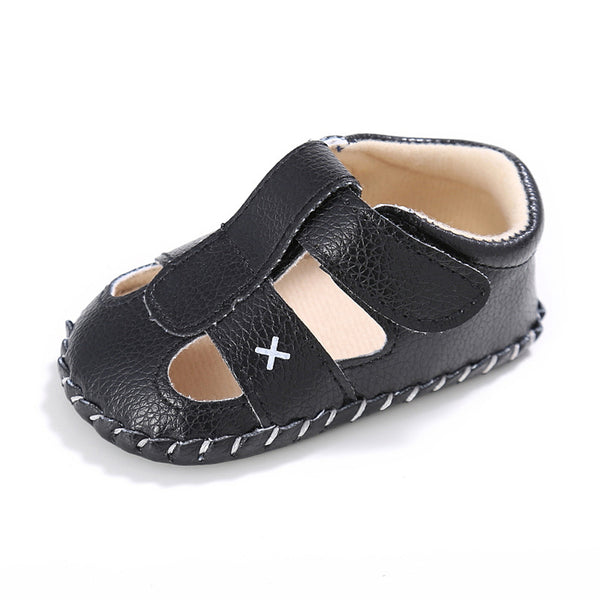Baby PU Hollow-out Magic Tape Non-Slip Sandals Wholesale Baby Shoes