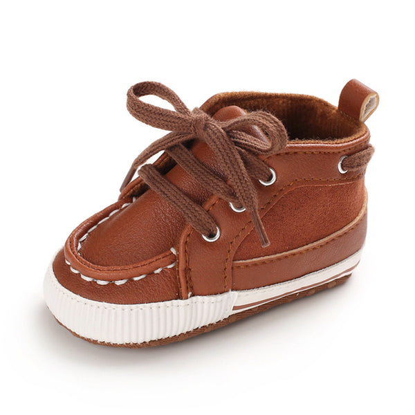 Baby Boys PU Lace Up Sneakers Spanish Baby Shoes Wholesale