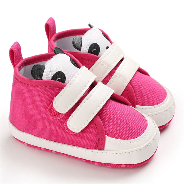 Baby Girls Panda Magic Tape Sneakers Spanish Baby Shoes Wholesale