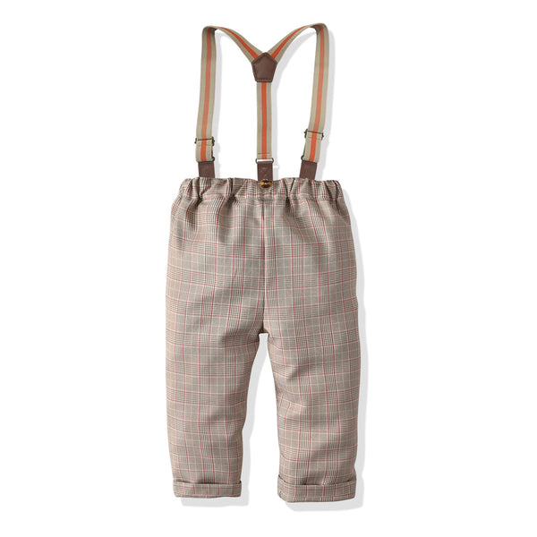Toddler Boy Plaid Casual Overalls Wholesale Childrens Clothing In Bulk