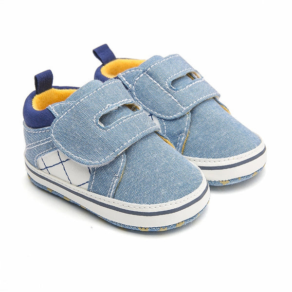 Baby Boys Plaid Magic Tape Fashion Shoes Baby Shoes Wholesale