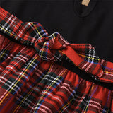 Baby Girls Plaid Splicing Sleeveless Doll Collar Dress Baby Clothing Cheap Wholesale