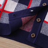 4PCS Baby Boys Plaid V-neck Long Sleeve Sweaters Buy Wholesale Baby Clothes