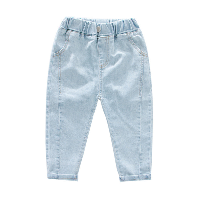 Boys Pocket Casual Solid Color Jeans Wholesale Boy Clothes