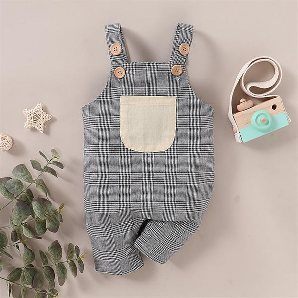 Baby Pocket Color Block Jumpsuits