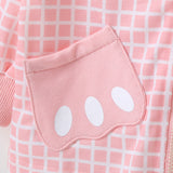 Baby Girls Pocket Plaid Zipper Long Sleeve Jackets Baby Clothes Wholesale Suppliers