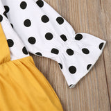 Baby Girls Polka Dot Flared Sleeve Rompers
