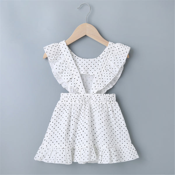 Baby Girls Polka Dot White Dress Baby Summer Clothes