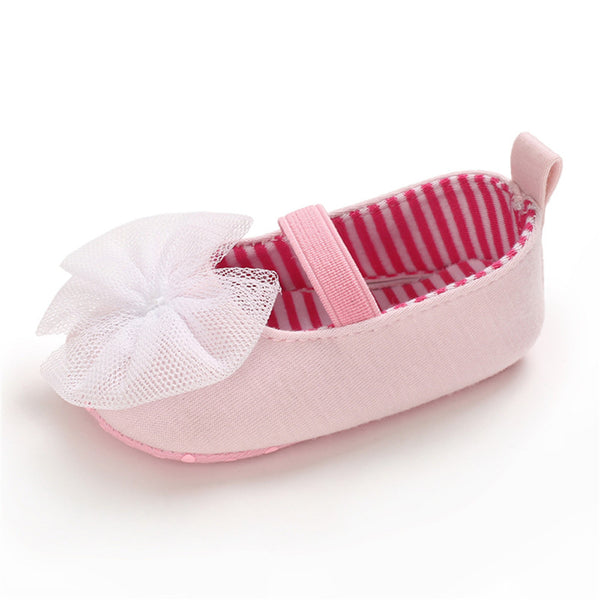 Baby Princess Lace Slip On Sweet Flats Baby Shoe Wholesale