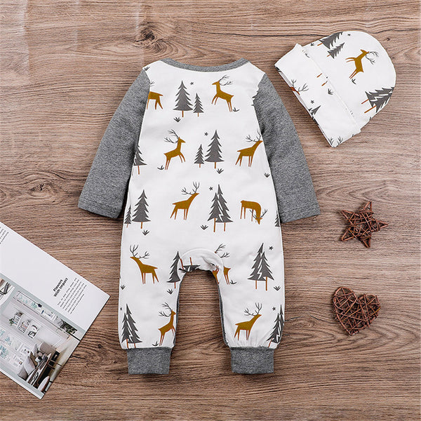 Baby Boys Printed Long Sleeve Romper & Hat Buy Baby Clothes Wholesale