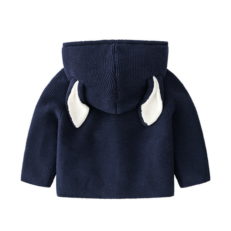 Baby Unisex Rabbit Ear Hooded Knitting Cardigan Jackets