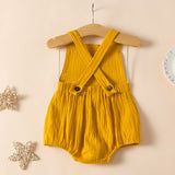Baby Girls Rainbow Printed Sleeveless Casual Romper Baby Clothing Wholesale Distributors