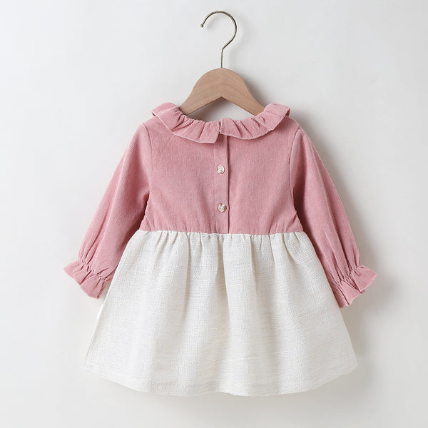 Baby Girls Ruffled Long Sleeve Cute Dress Where To Buy Baby Clothes In Bulk