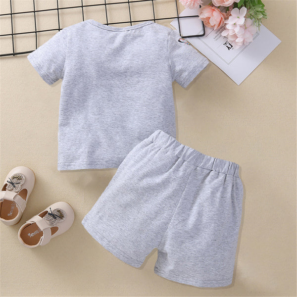 Baby Girls Short Sleeve Animal Printed Top & Shorts Wholesale Baby Clothes Usa