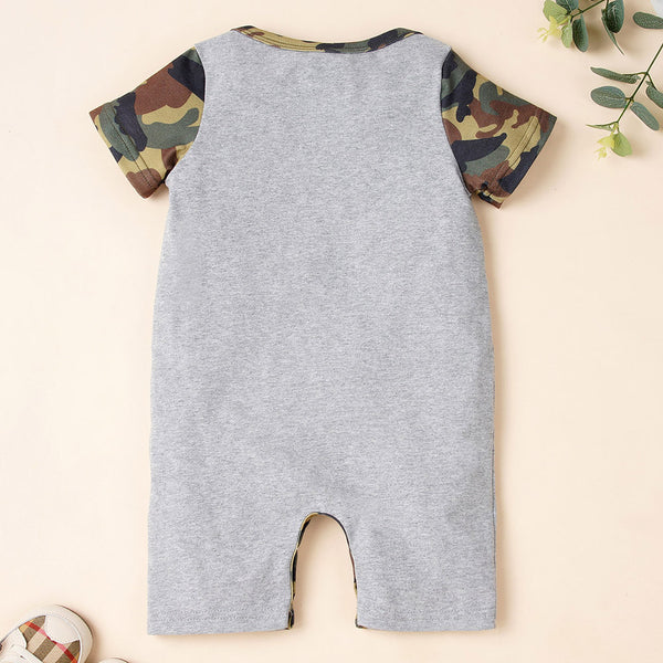 Baby Boys Short Sleeve Camouflage We Are So Cool Romper Baby Clothes Wholesale Bulk