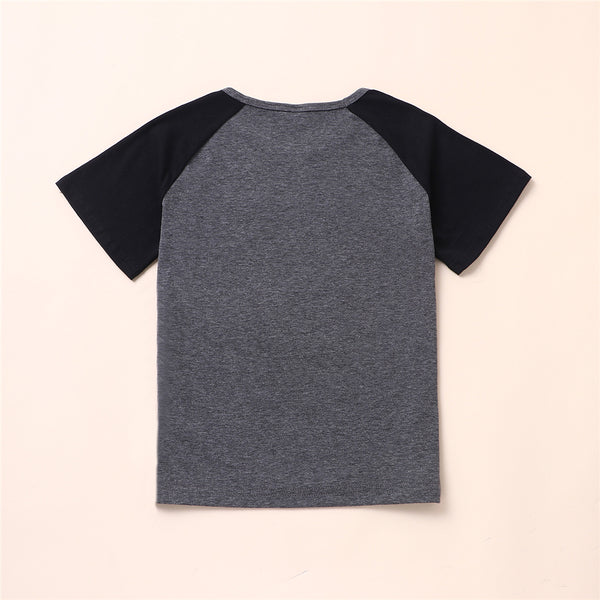 Boys Short Sleeve Cartoon Letter Printed T-shirt kids clothes wholesale