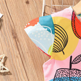 Girls Short Sleeve Cartoon Printed Dresses & Headband cheap baby clothes wholesale