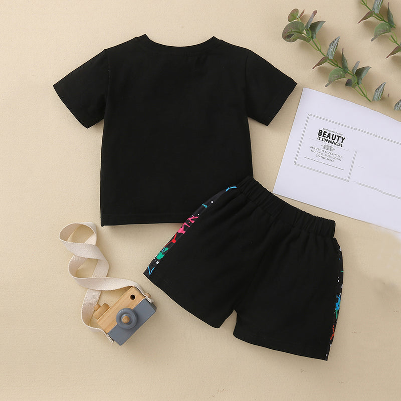 Baby Boys Short Sleeve Casual Top & Shorts baby clothes wholesale usa