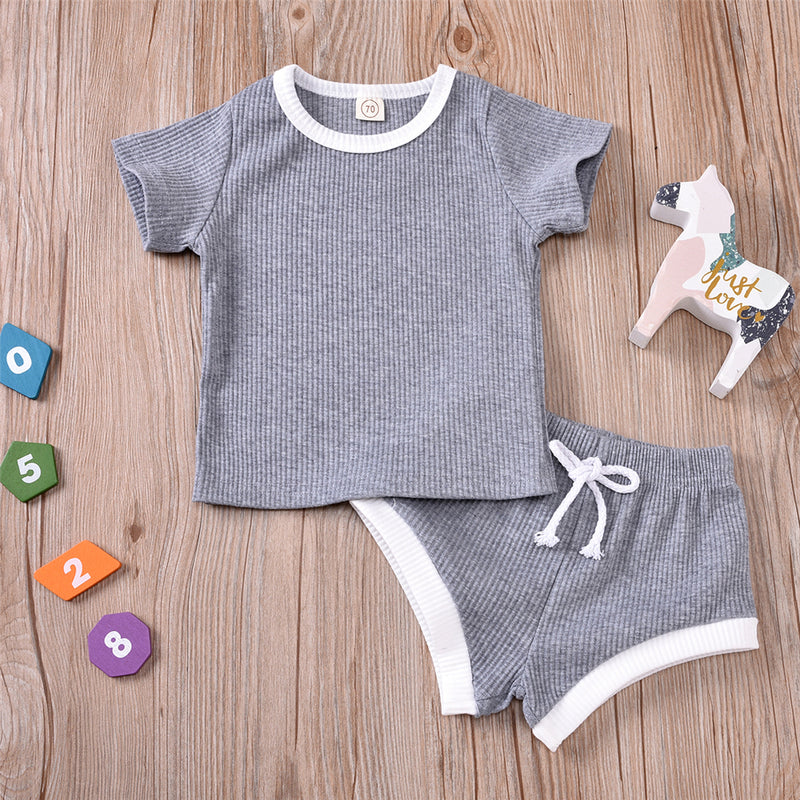 Baby Girls Short Sleeve Crew Neck Top & Shorts Baby Clothing In Bulk