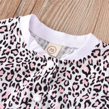 Baby Girls Short Sleeve Leopard Button Romper Bulk Baby Clothes Online