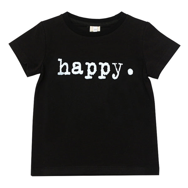 Unisex Short Sleeve Letter Printed Casual T-Shirts wholesale childrens clothing distributors