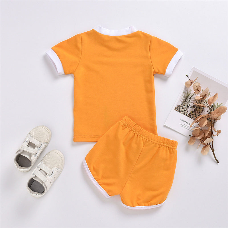 Baby Short Sleeve Letter Printed Top & Shorts Baby Clothing Distributor