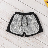 Girls Short Sleeve Sequin Heart T-Shirts & Shorts children wholesale clothing