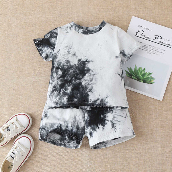 Baby Boys Short Sleeve Tie Dye T-shirts & Shorts wholesale baby clothes usa