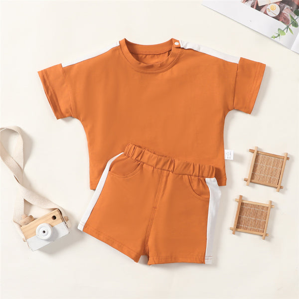 Baby Girls Short Sleeve Top & Shorts Casual Suit Baby Wholesale Suppliers