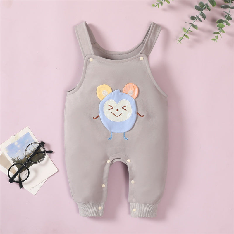 Baby Unisex Sleeveless Cartoon Suspender Romper baby clothes wholesale usa