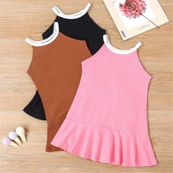 Girls Sleeveless Daily Dress Wholesale Childrens Dresses