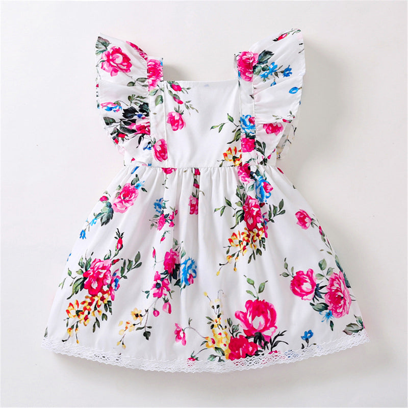 Baby Girl Sleeveless Floral Printed Dress Buy Baby Clothes Wholesale