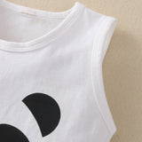 Baby Unisex Sleeveless Panda Printed Top & Shorts baby clothes wholesale distributors
