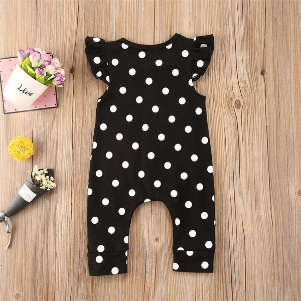 Baby Girls Sleeveless Polka Dot Romper Baby Clothing Distributor