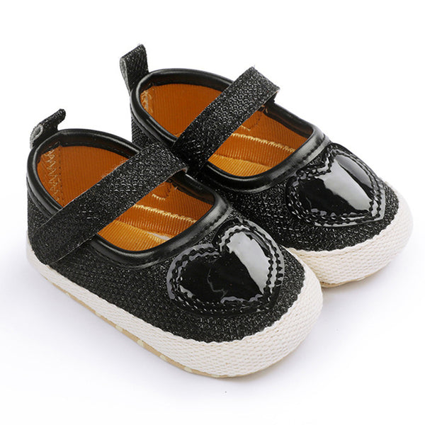 Baby Girls Soft Heart Magic Tape Shoes Childrens Shoes Wholesale